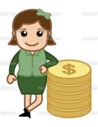 depositphotos_28664799-Woman-Standing-with-Coins---Money-Concept---Vector-Illustration