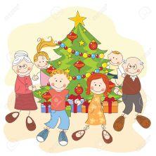16843237-Navidad-de-la-familia-feliz-bailando-juntos-ilustraci-n-a-mano-dibujo-Foto-de-archivo (1)